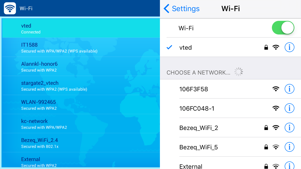Wi-Fi Network connection InnoTV™