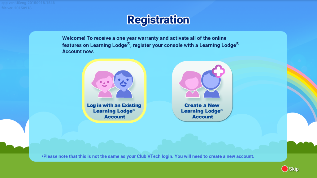 Registration screen capture