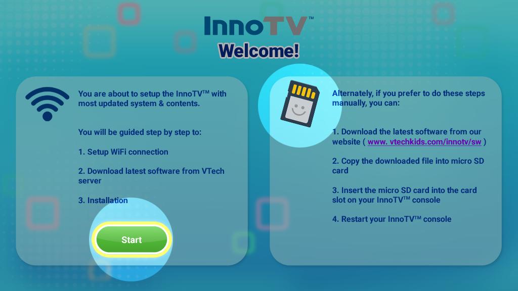 Screen capture: Update InnoTV firmware start