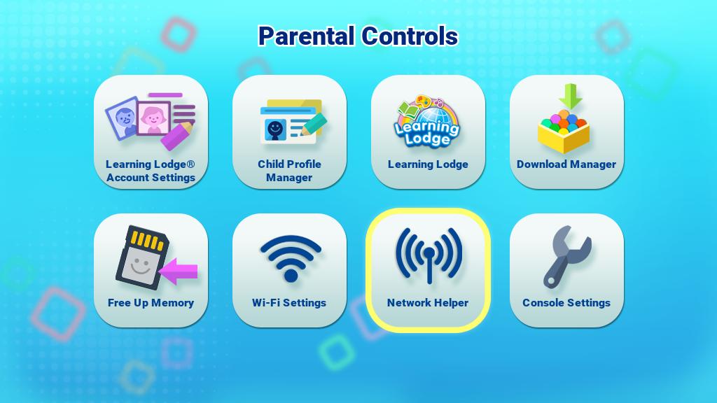 Network Helper in Parental Controls