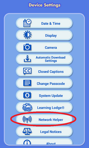 Device Settings screen