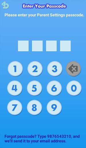 Passcode input screen