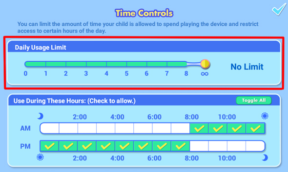 Daily Usage Limit Bar