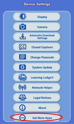 Screen: Get More Apps