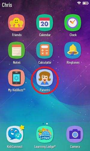 Screen: Kidibuzz G2™ System Home
