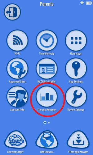 Screen: VTech App Manager
