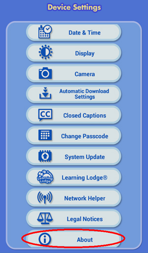 Factory Reset page