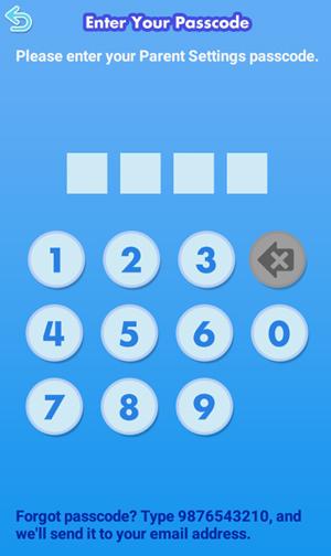 Screen: Enter your passcode