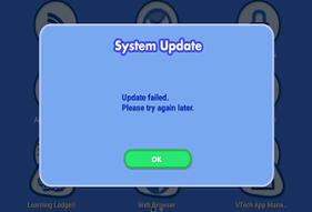 Screen: Update failed.