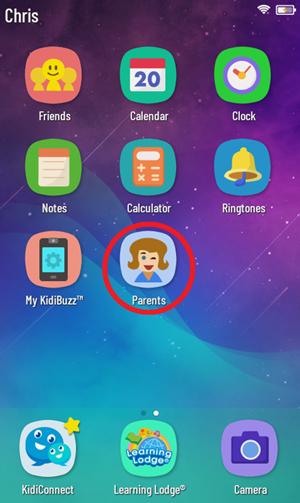 Screen: Kidibuzz™ G2 System Home