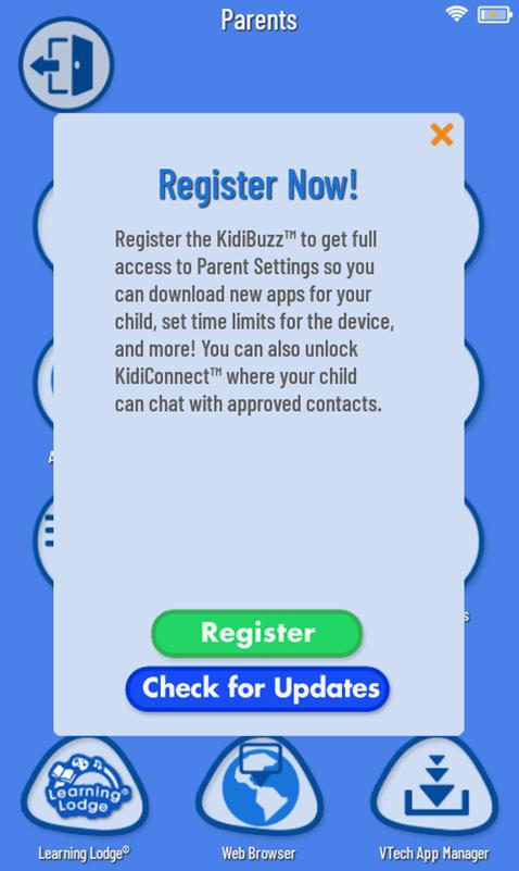 Screen: Register Now.