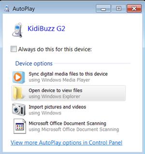 Screen: AutoPlay Window.