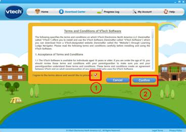 terms and conditions page