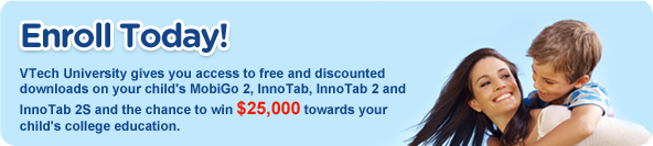 to free and discounted downloads on your child's MobiGo 2, Inno Tab 2